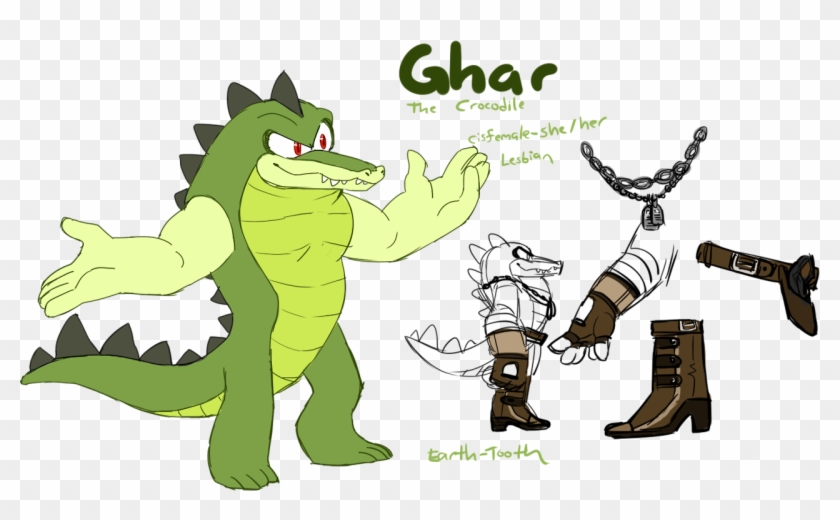 """"""" Ghar The Crocodile Shes A Lesbian I Made Her Purely - Mobian Alligator #294402"""