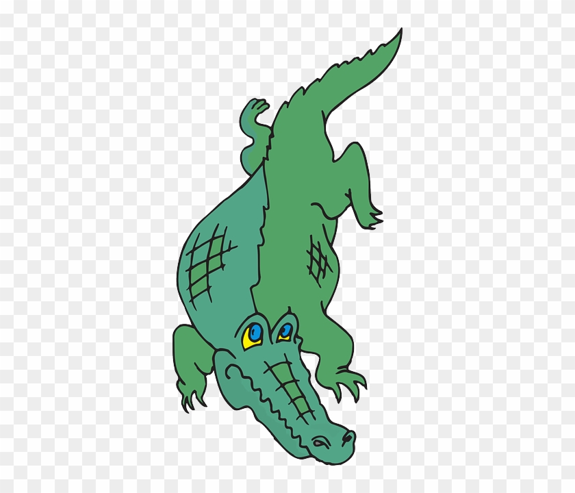 Cartoon, Walking, Tail, Claws, Alligator, Predator - Alligators Cartoon Png #294412