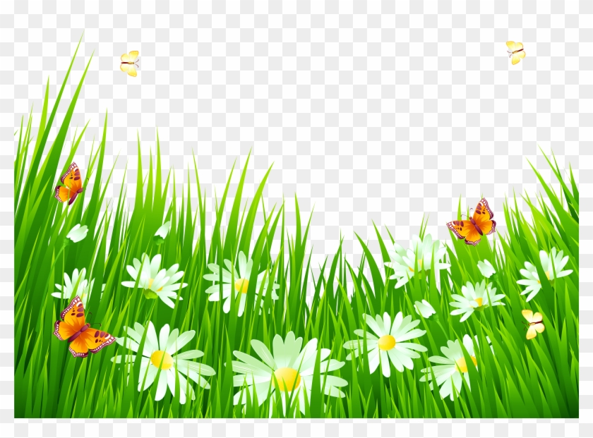 Grass And Flowers - Grass And Flowers Gif #294632