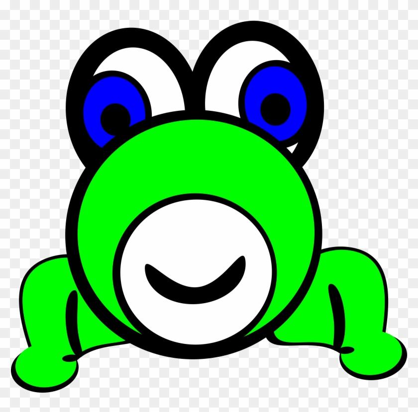 Image For Cobia Fish Animal Clip Art - Cartoon Frog Circle Face #294681