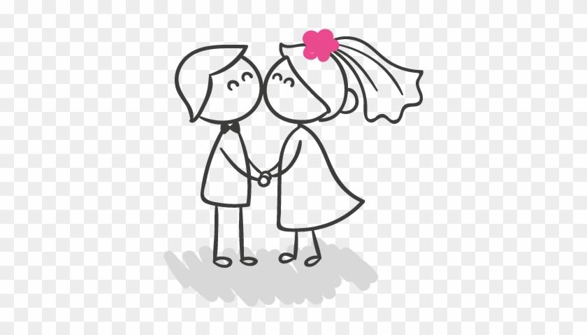 Wedding Corner - Boda En Blanco Y Negro Dibujo #294951