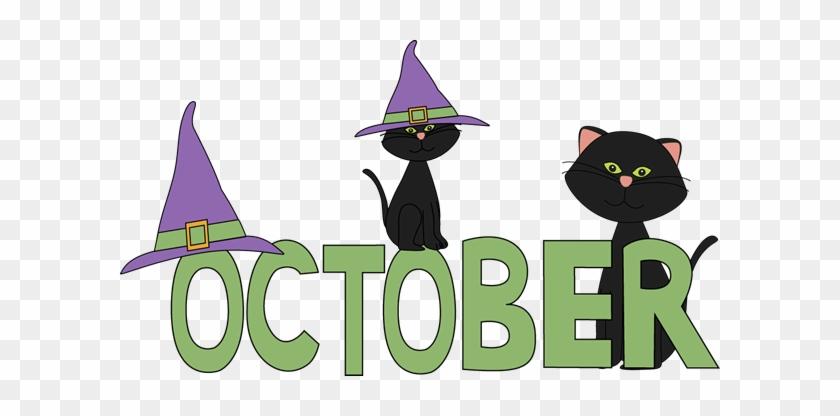 October Black Cats Clip Art - Month Of October #295072