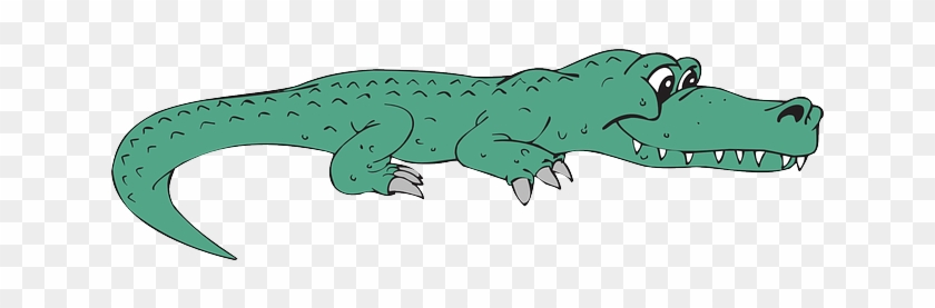 View, Happy, Cartoon, Side, Smile, Alligator - Alligator Clip Art #295148