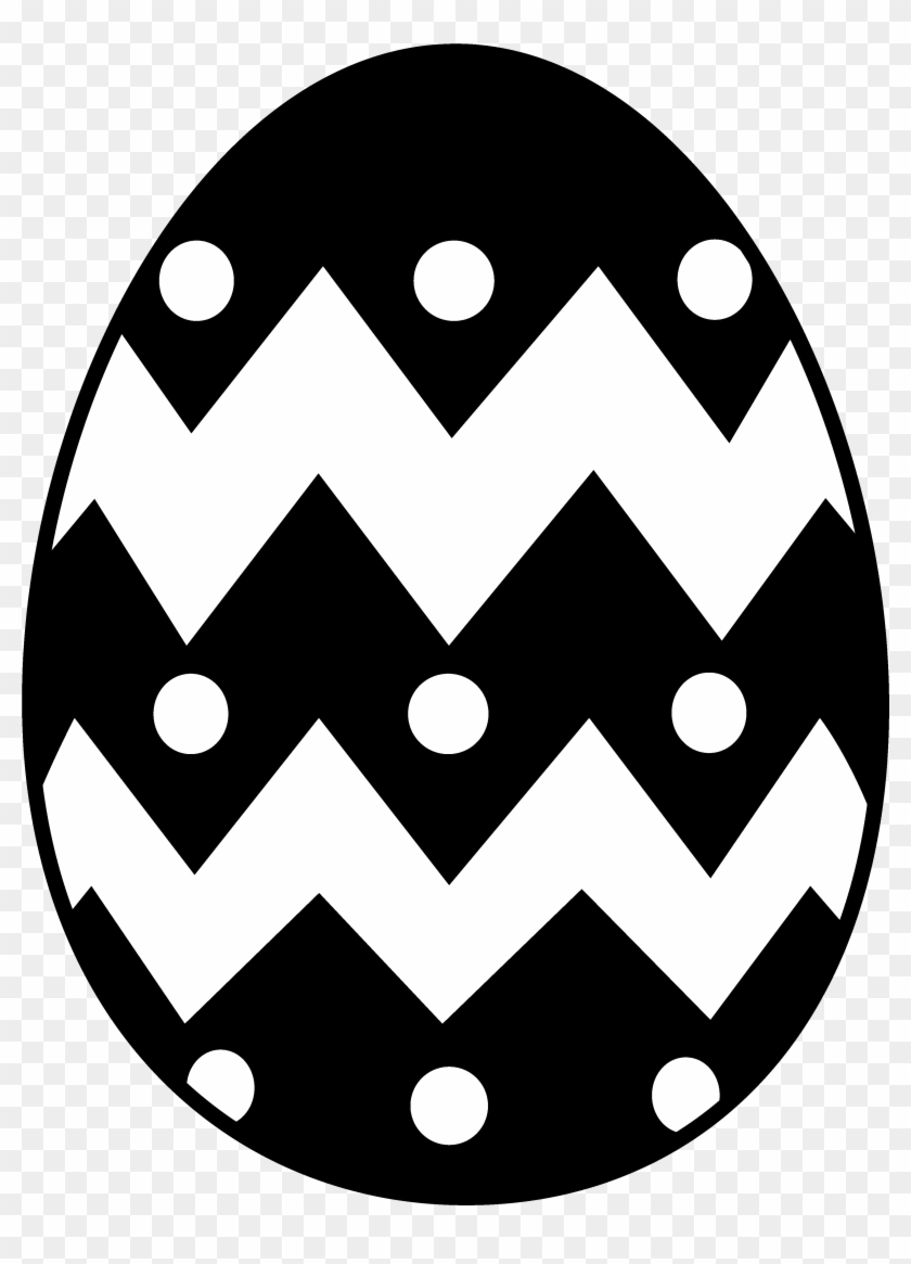 Fried - Egg - Clipart - Black - And - White - Easter Egg Svg Free #295303