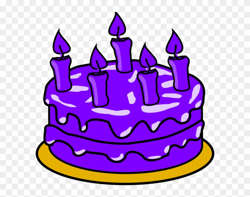 Purple Cake Cliparts