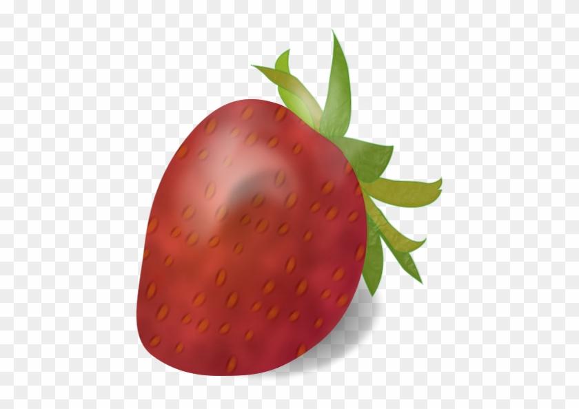 Small Ripe Strawberry Clip Art Download - Custom Strawberry Shower Curtain #296396