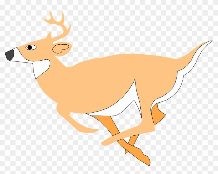 Dear Clipart - Deer Running Clipart Gif #296512