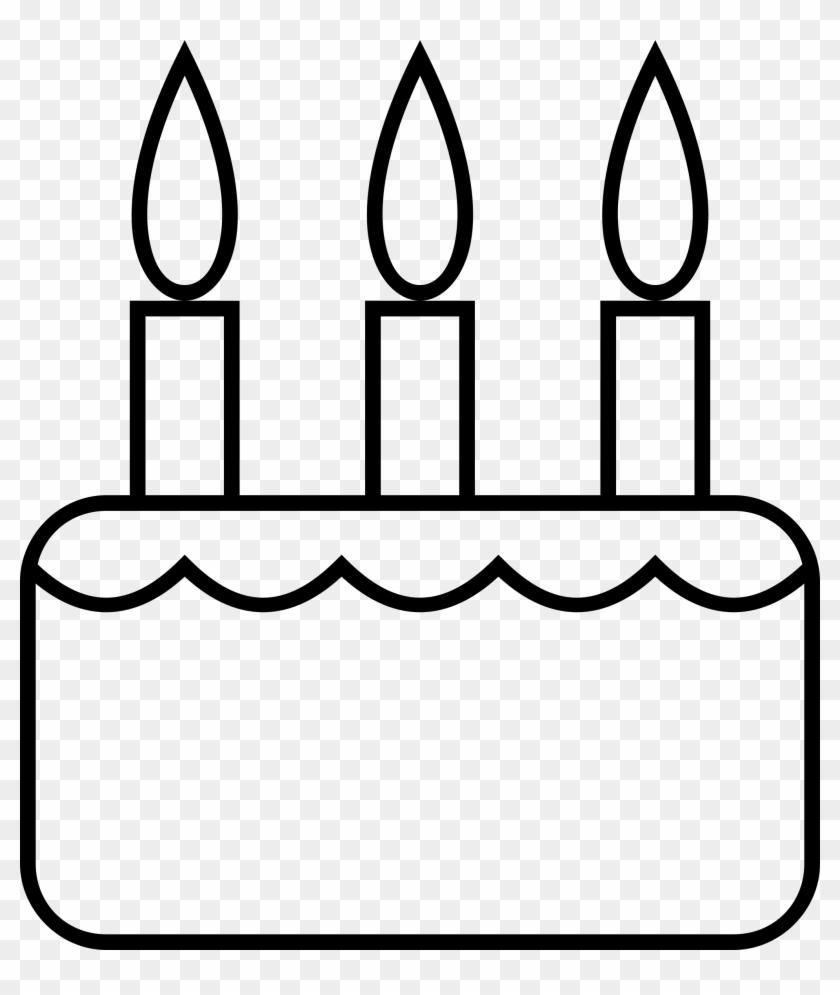 Big Image Black And White Birthday Cake Slice Clipart Free