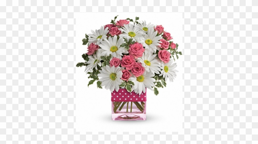 Polka Dots And Posies - Mother's Day Flower Bouquet #297106