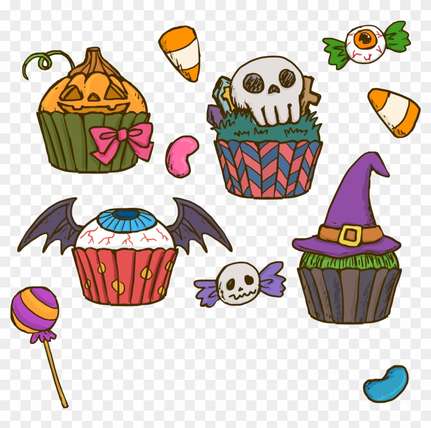 Halloween Cake Cupcake Birthday Clip Art