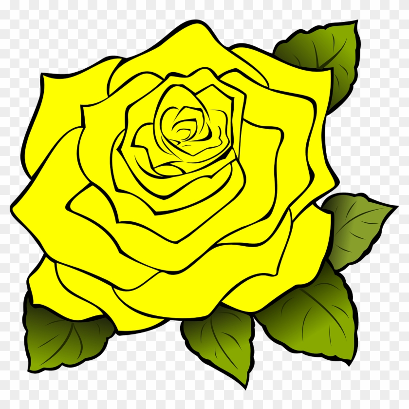 Yellow Rose Clipart Yellow Rose Clip Art At Clker Vector - Yellow Rose Of Texas Clipart #297329