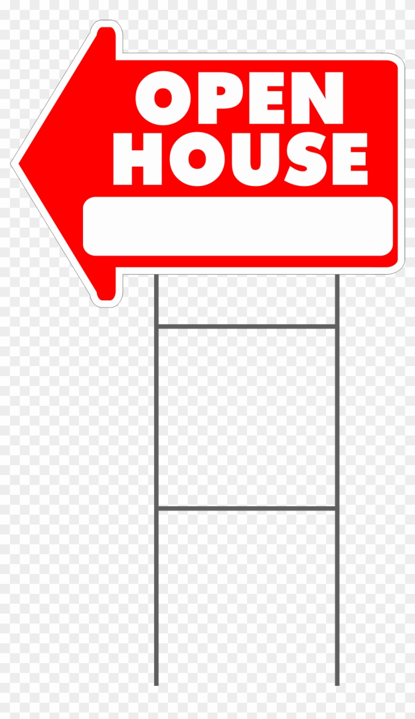 Arrow Yard Signs - Open House Yard Sign Png #297448