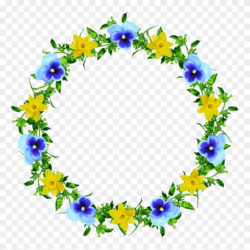 Forgetmenot Frames Blue And Yellow Flowers Border Free