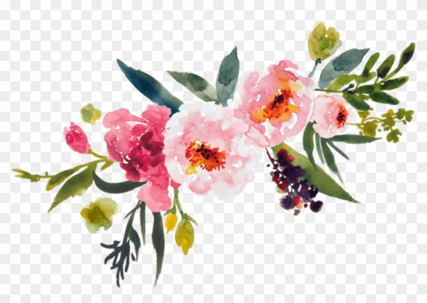 Watercolor Painting Flower Bouquet Clip Art - Watercolor Flowers Transparent Background #297746