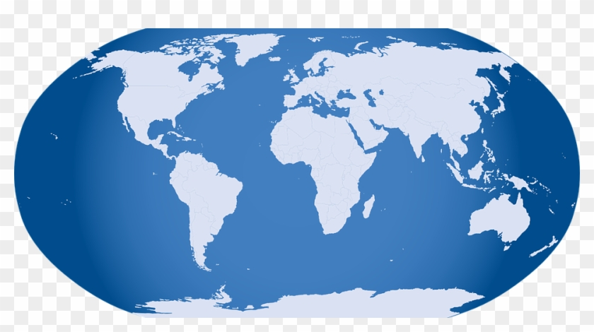 Ingenious Inspiration Ideas World Map Clipart Blue Blue Map Of The