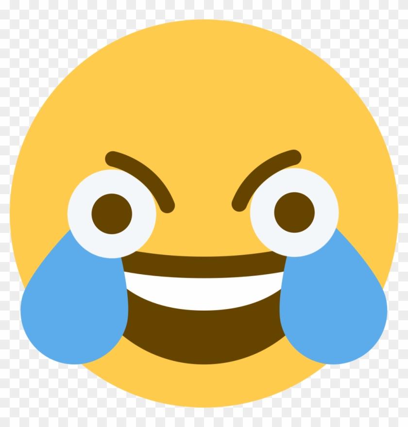 Yellow Face Nose Beak Head Emoticon Clip Art Smile - Open Eye Crying Laughing Emoji #297818