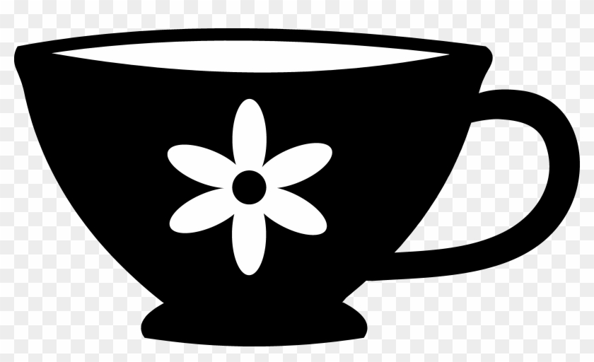 Teacup Clipart Black And White - Tea Cup Clip Art #297976