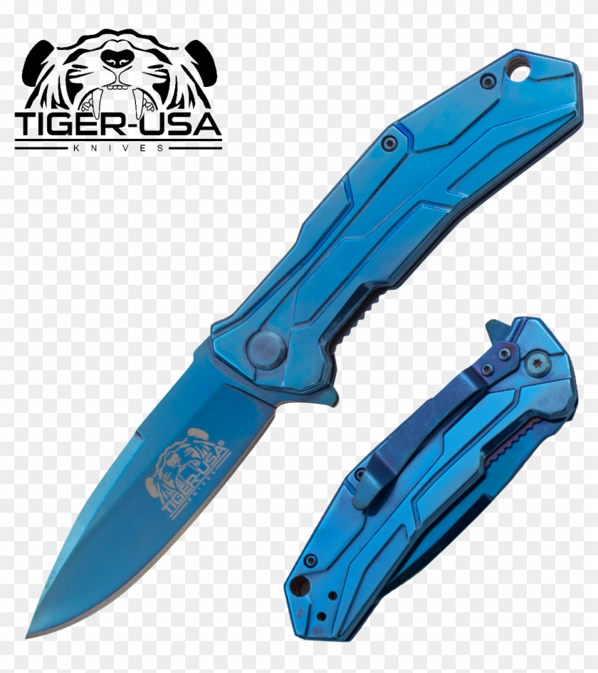 Tiger Usa® Folding Knife W/clip , , Panther Trading - American Flag Knives #297986