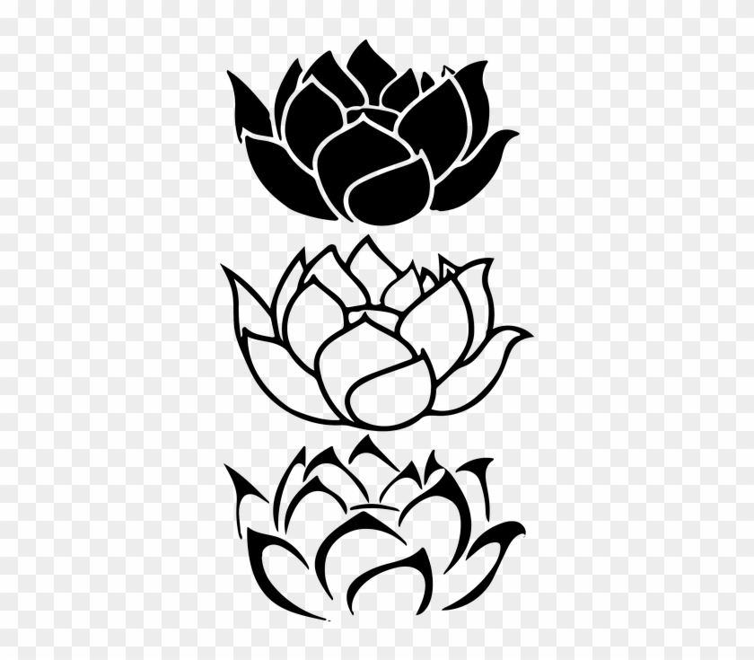 The Best Lotus Flower Cartoon Black And White Pics