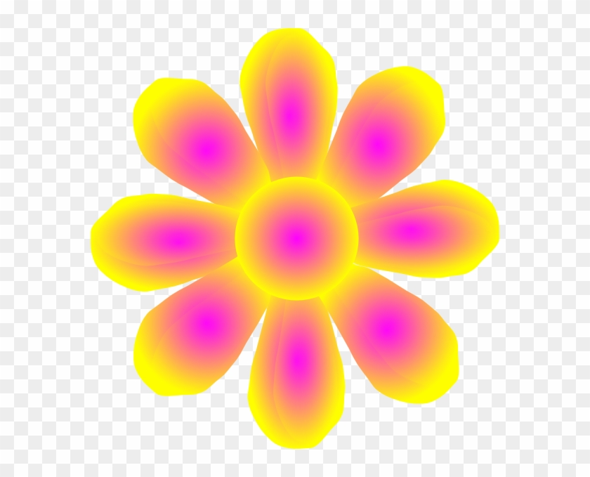 Flower Yellow Clip Art Pink And Yellow Cartoon Flowers Free Transparent Png Clipart Images Download