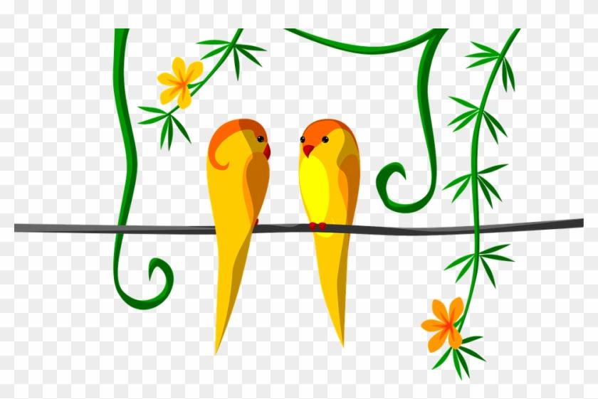 Love Bird Clipart 21, - Parrot #298345