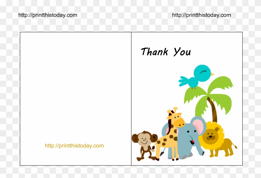 Baby Thank You Cards Clipart - Free Printable Baby Shower ...