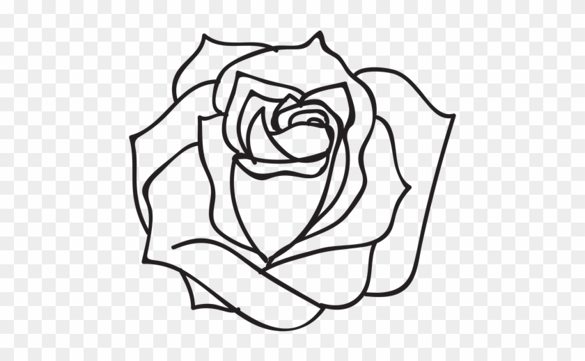blooming rose stroke icon flower roses black and white png free transparent png clipart images download blooming rose stroke icon flower