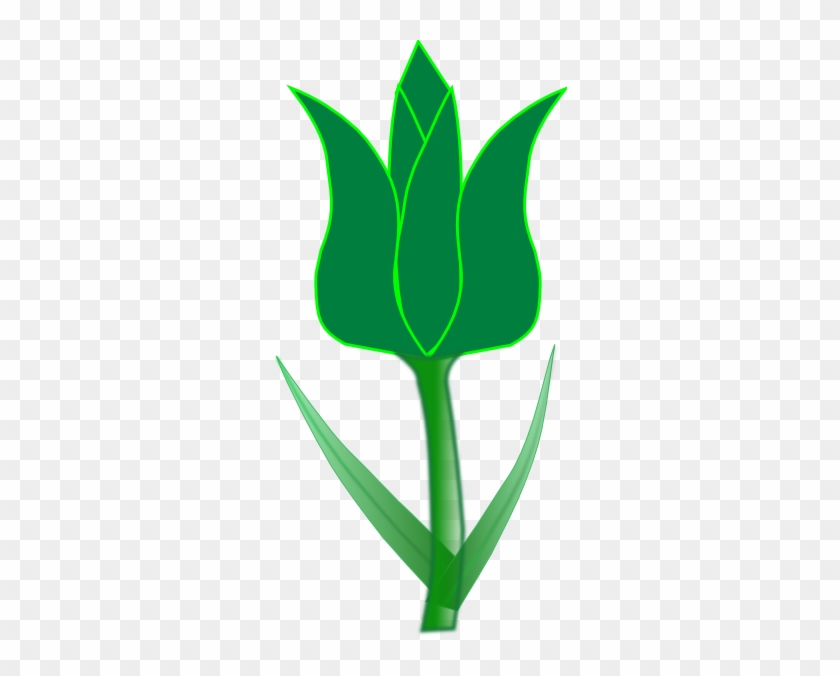 Tulip Clip Art - Green Tulip Clipart #298552