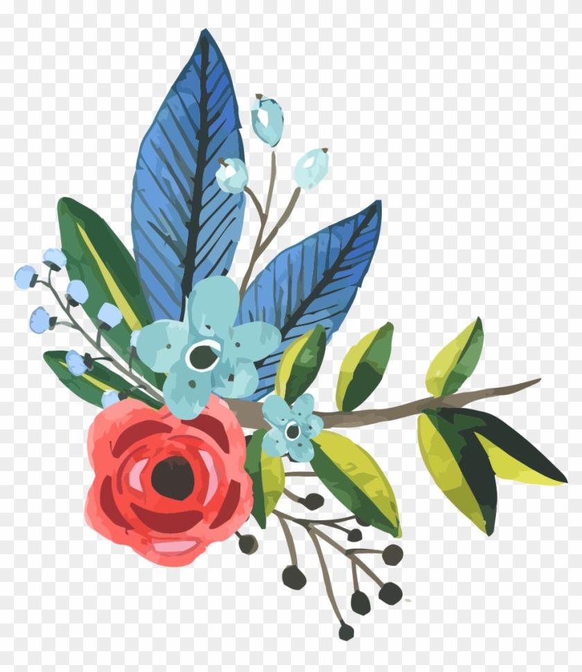 Flower Watercolor Painting Clip Art - Flower Bouquet #298703