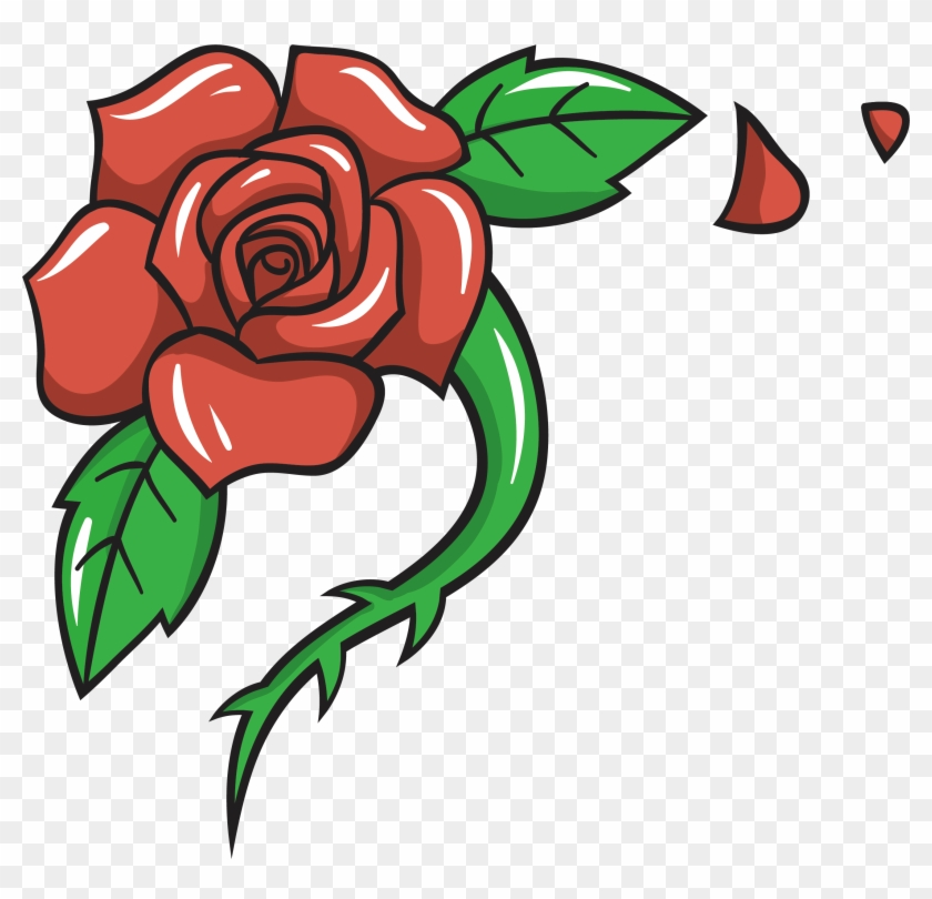 Garden Roses Beach Rose Cartoon Clip Art - Cartoon Flower Rose Png #298811