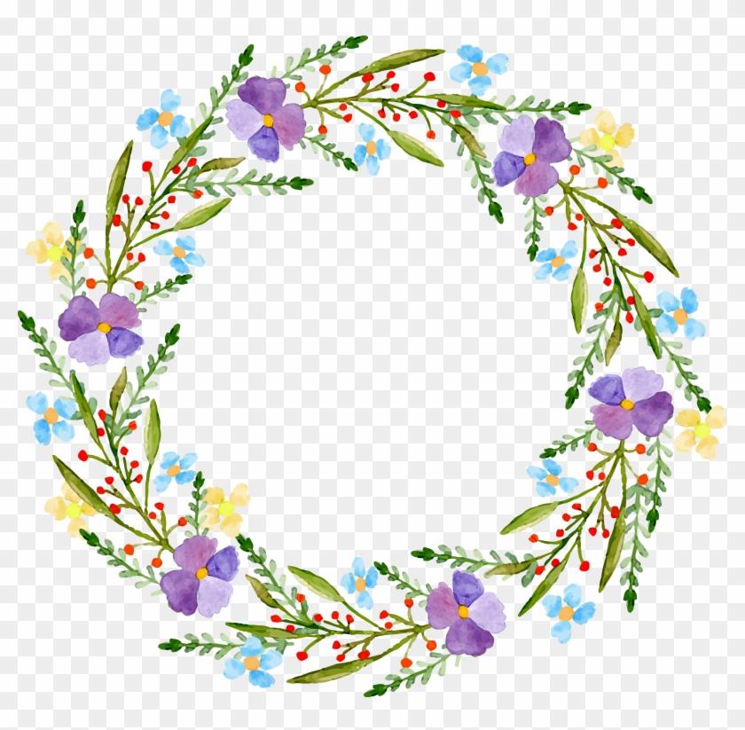 Flower Bag Adobe Illustrator Wreath - Wedding Save The Date Postkarte #299004