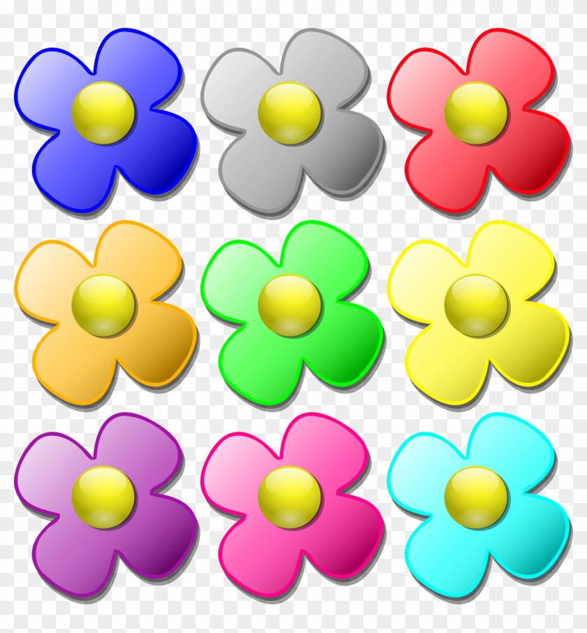 picture relating to Printable Flower Pattern identified as Colour Bouquets Clip Artwork Printable Coloring Web pages No cost