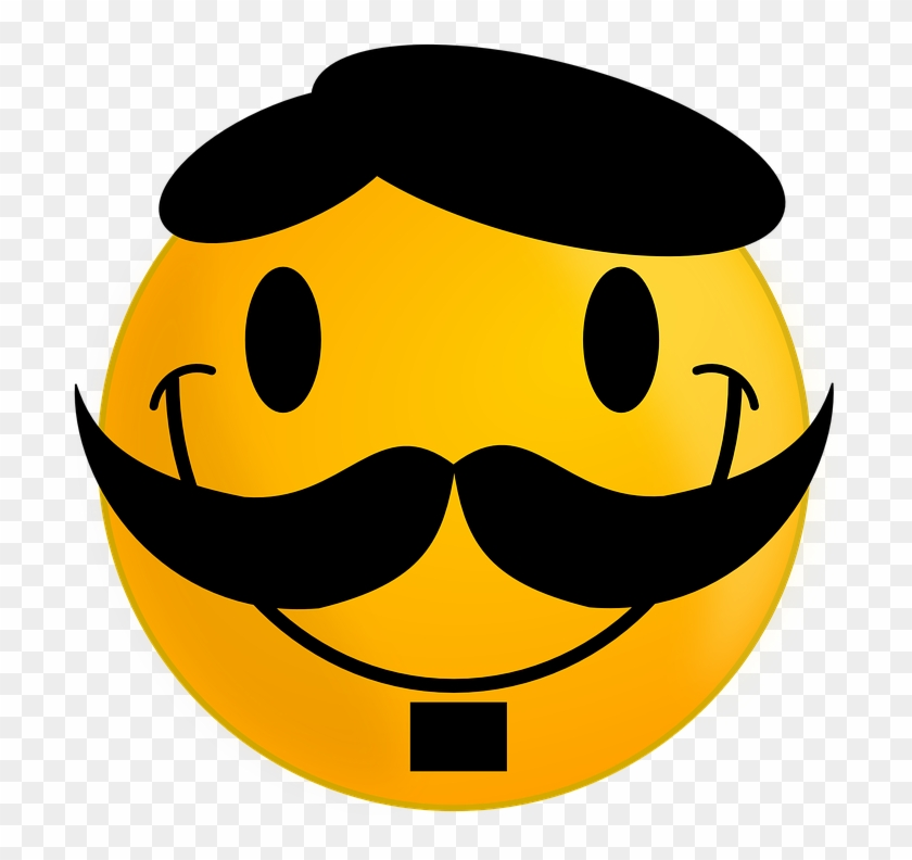 cartoon confused face 11 smiley face with mustache 299087