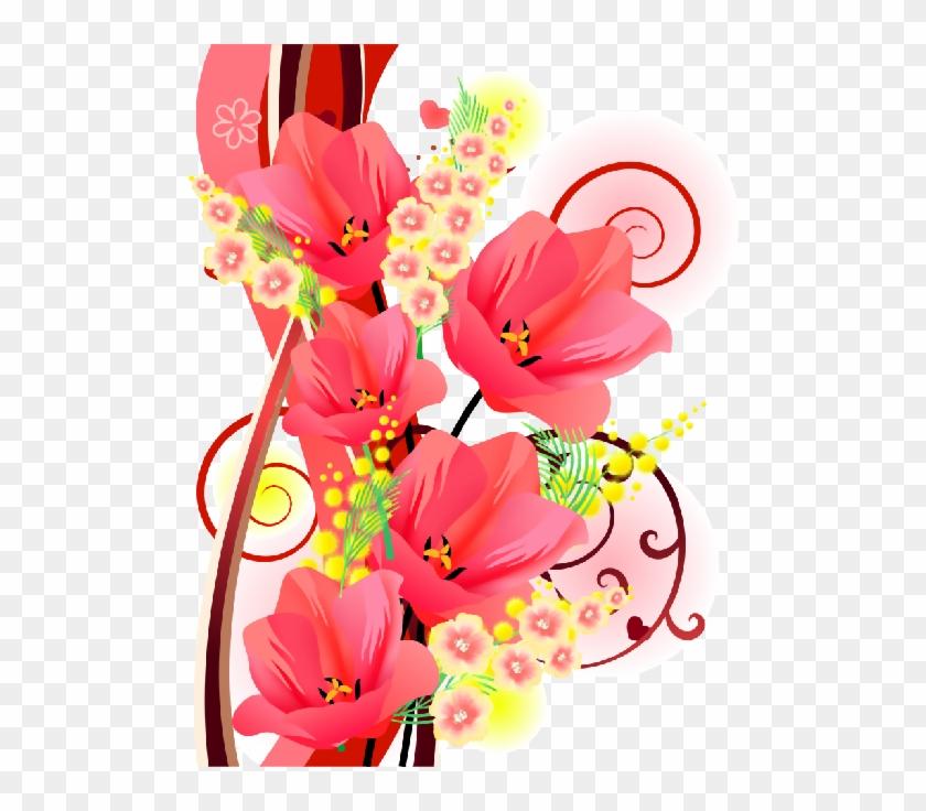 Flower Powerflower Frameclip - Анимационные Цветы На Прозрачном Фоне #299146