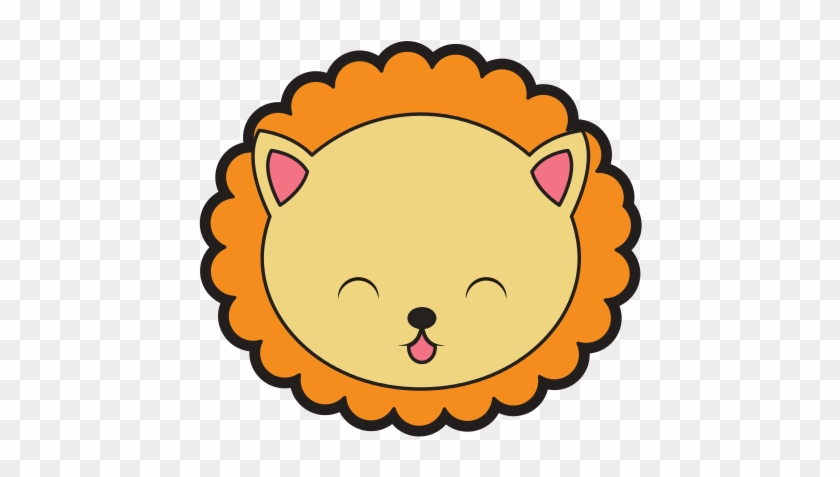 Cute Lion Face Cartoon - Cute Lion Head Clipart Hd #299235