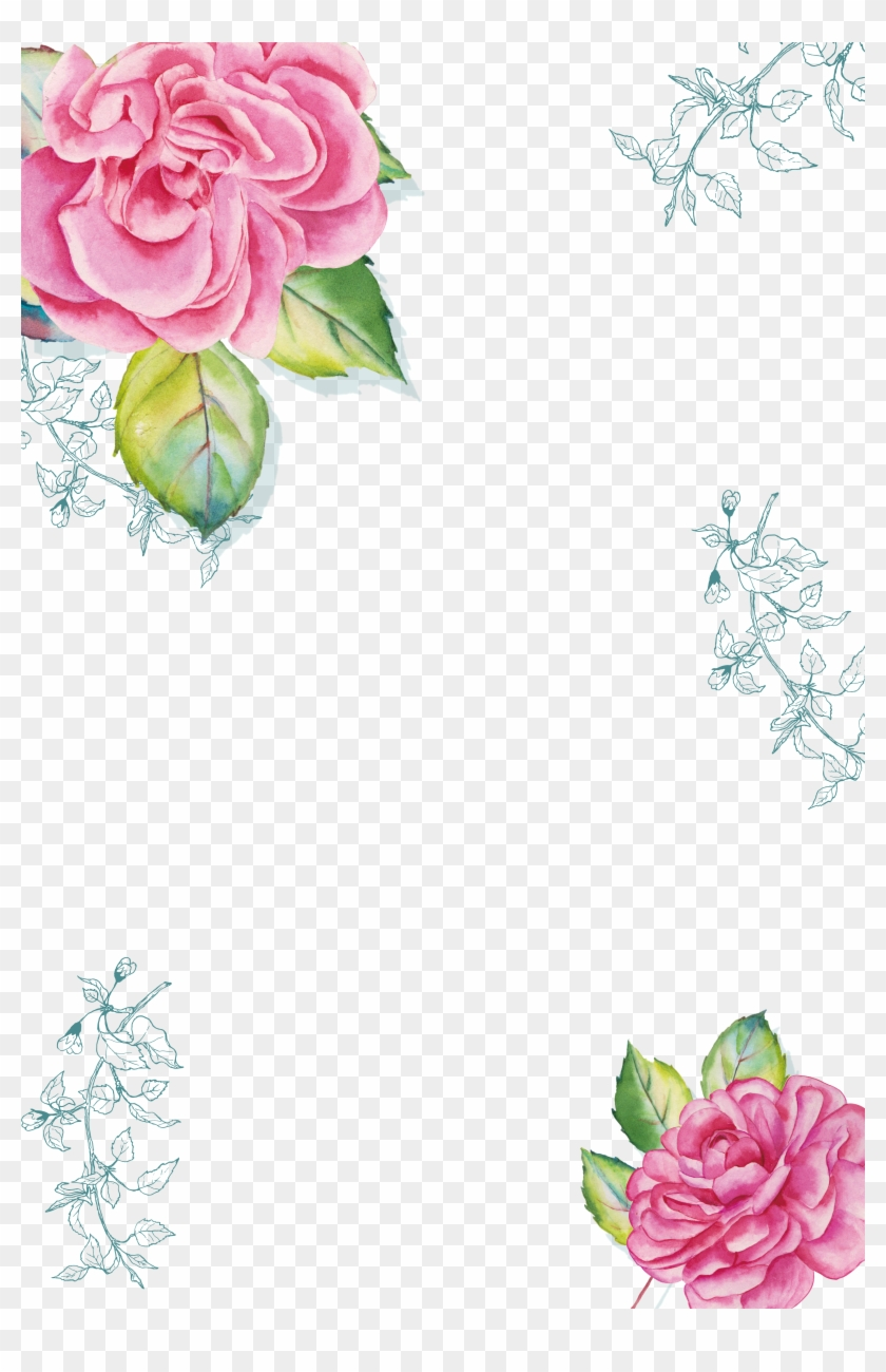 Watercolor Painting Poster Download - Watercolor Transparent Flower Border #299420