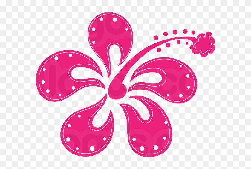 Hot Pink Flower Png By Hanabell1 Hibiscus Clip Art Free
