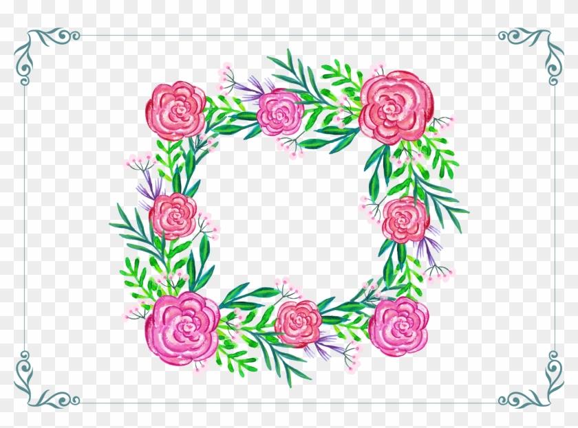 Floral Design Template - Vector Mexican Otomi Watercolor #299538