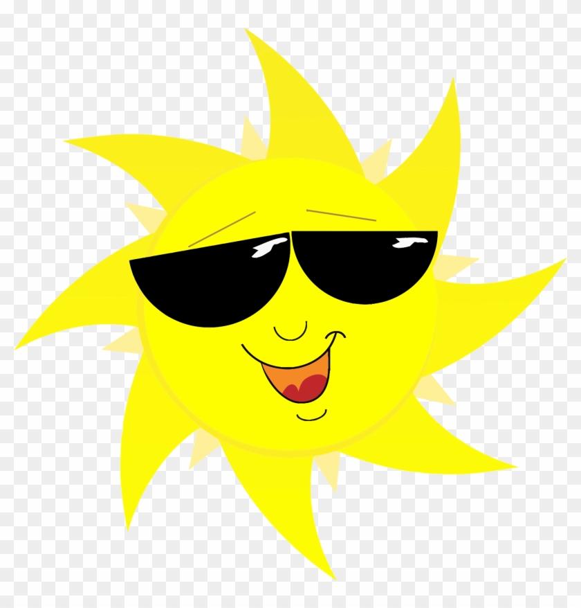 Free Cool Cartoon Sun Clip Art - Sun With Sunglasses Png #299580