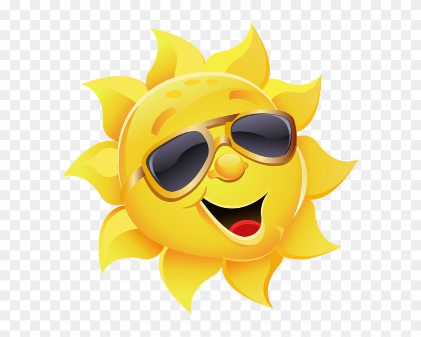 Sun Clipart Sunglass - Sun With Sunglasses Png #299582
