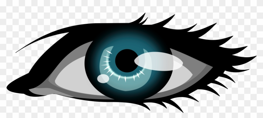 Illustration Of A Human Eye - Blue Eye Clip Art #299654