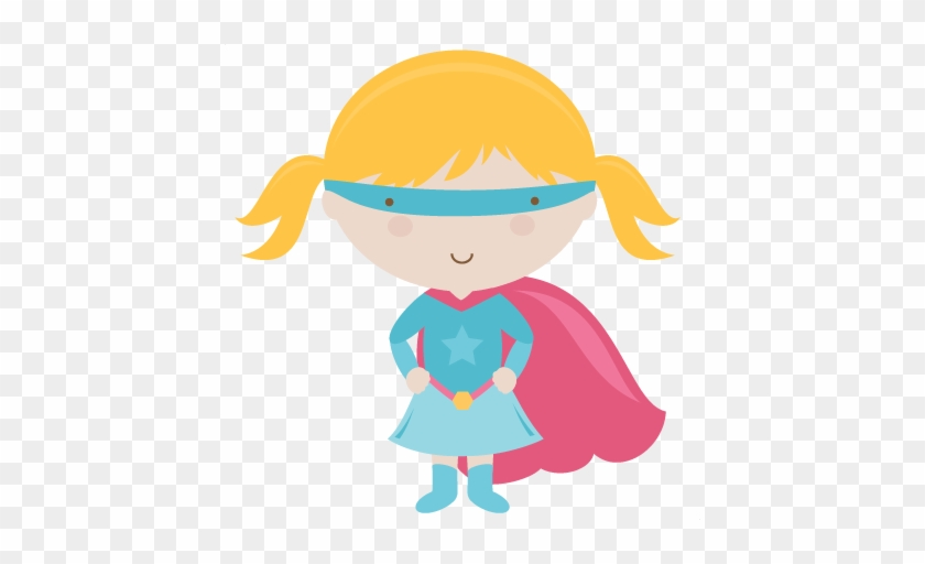 Charming Design Supergirl Clipart Svg Cutting Files - Cute Super Hero Png #299853