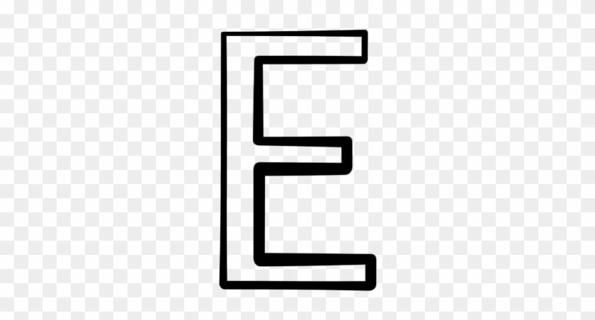 Capital Letter E Icon Letter E Clipart Black And White Free