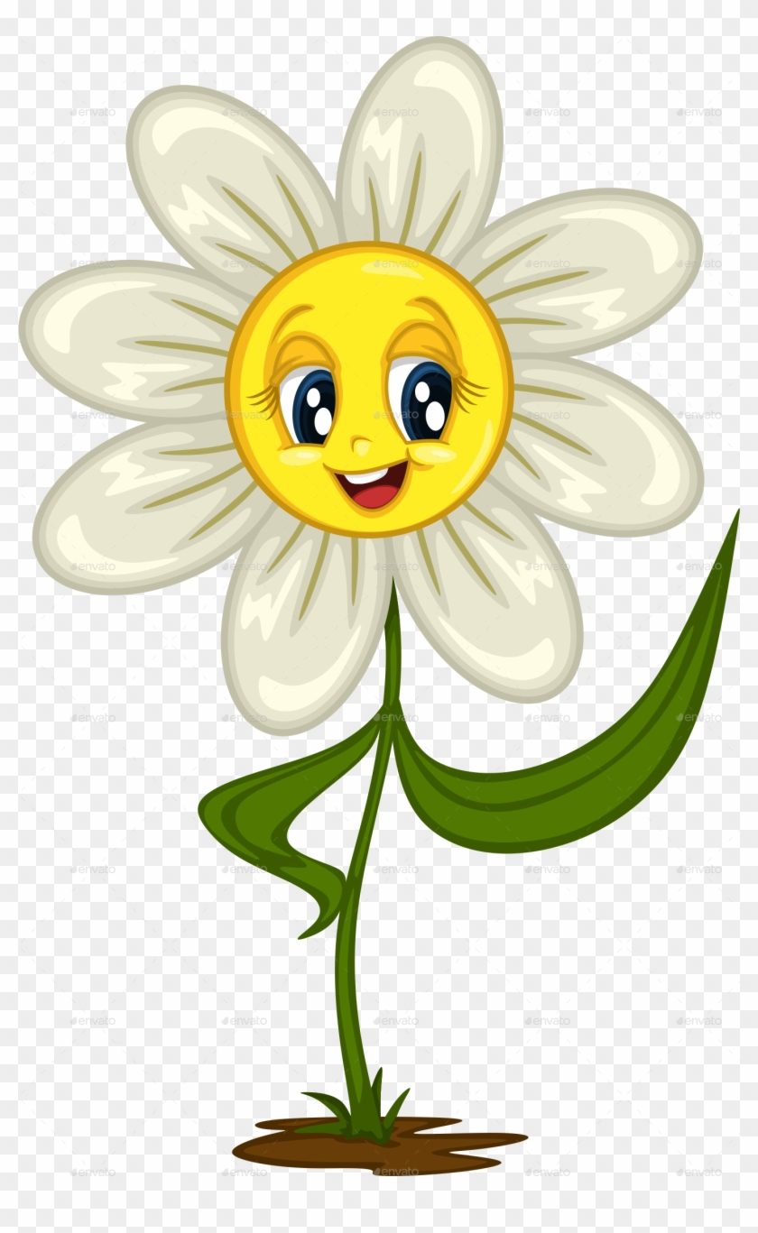 Cartoon Daisy Stickers For Different Situations Daisy Flower