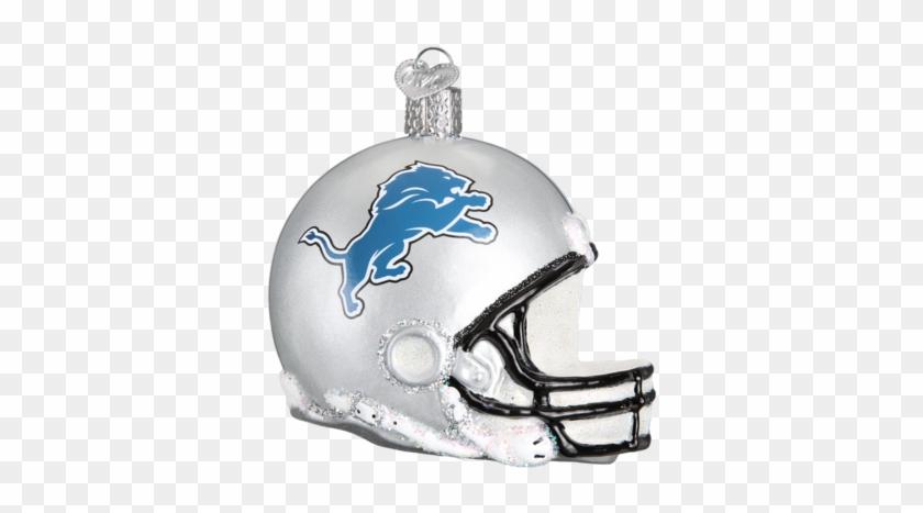 Detroit Lions Helmet Christmas Ornament 71117 Merck - New England Patriots Nfl Football Helmet Glass Ornament #300424