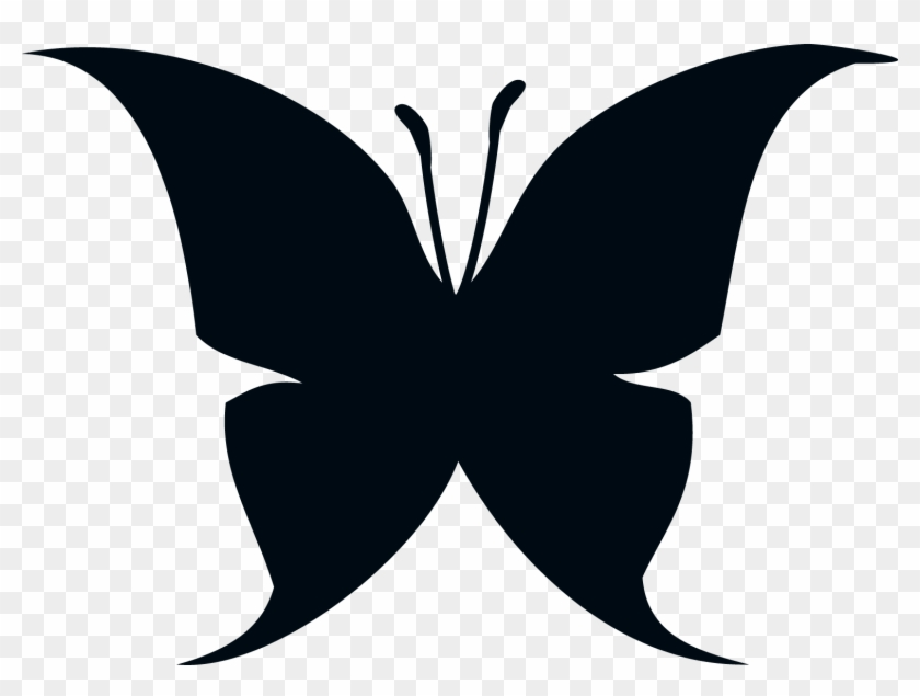 Butterfly Silhouette Drawing Clip Art - Butterfly Shadow Png