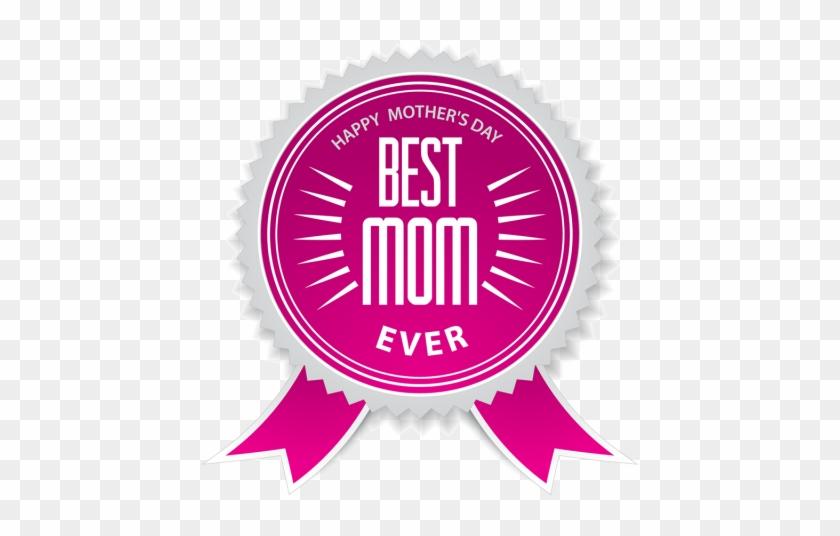 A Melhor Mãe Do Crachá Com Laço Cor De Rosa Para O - Best Mom Ever Ribbon #300797