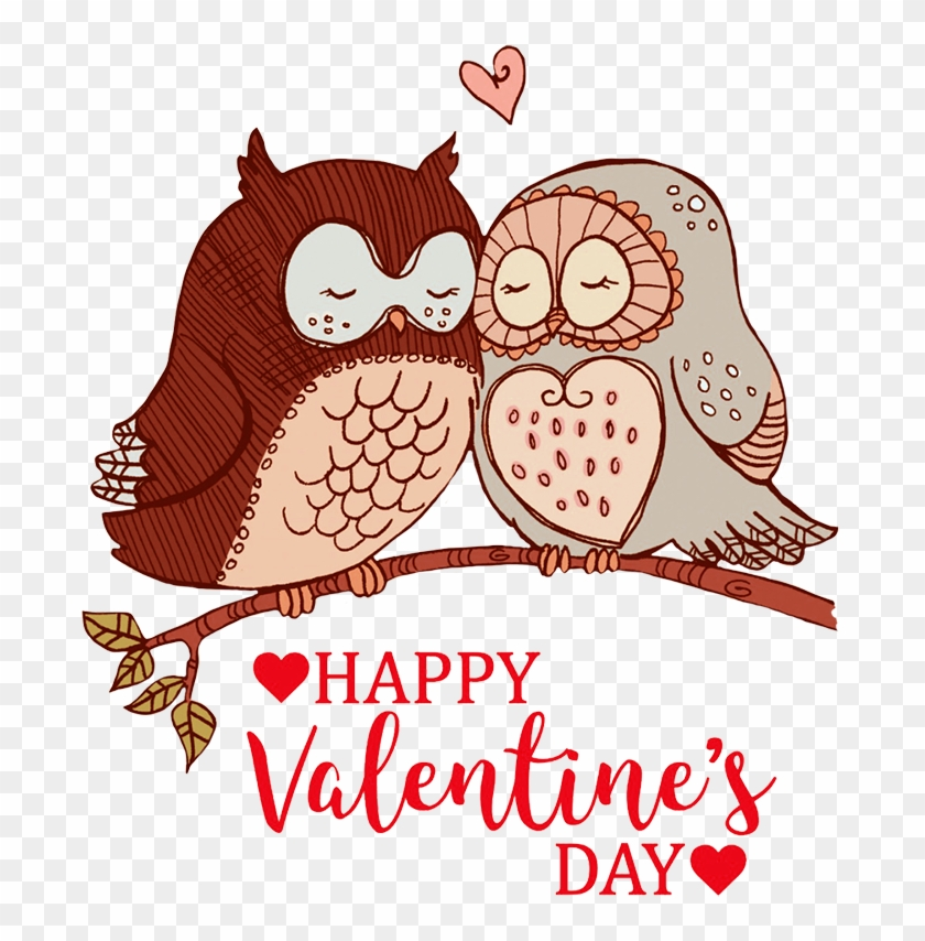 Happy Valentines Day Greeting Owls In Love Happy Valentines Day