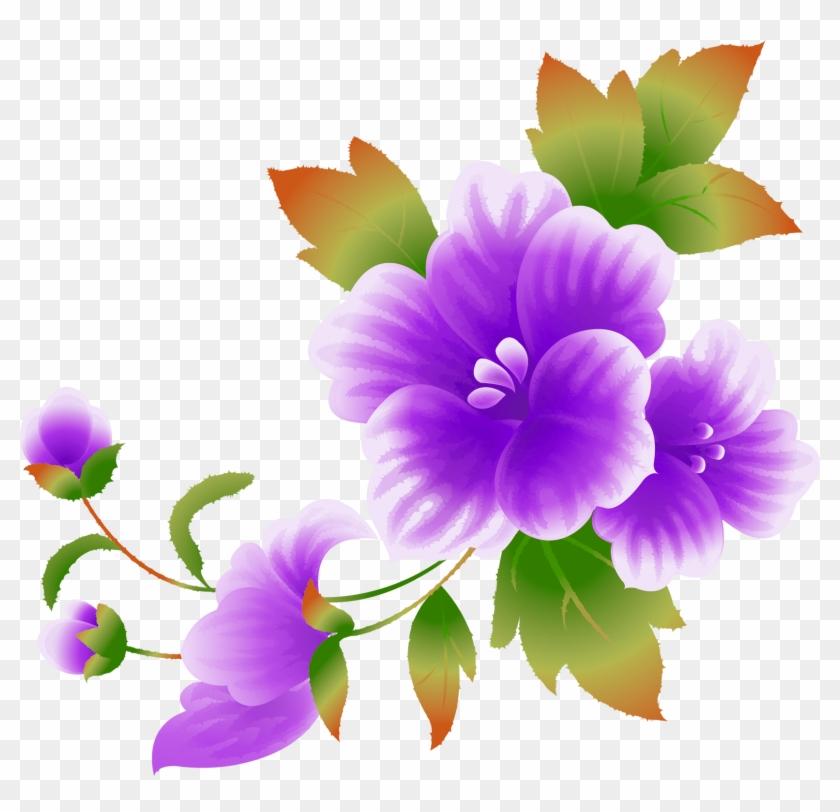 Pink Flowers Clip Art - Color Flower Clip Art #301019