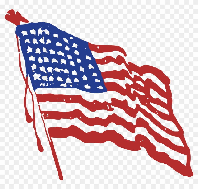 Free Clipart Of A Rippling American Flag - Free Clip Art